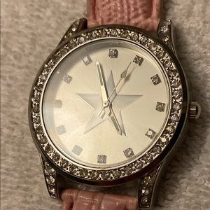 Pink Rhinestone and Star Cowgirl Style Watch